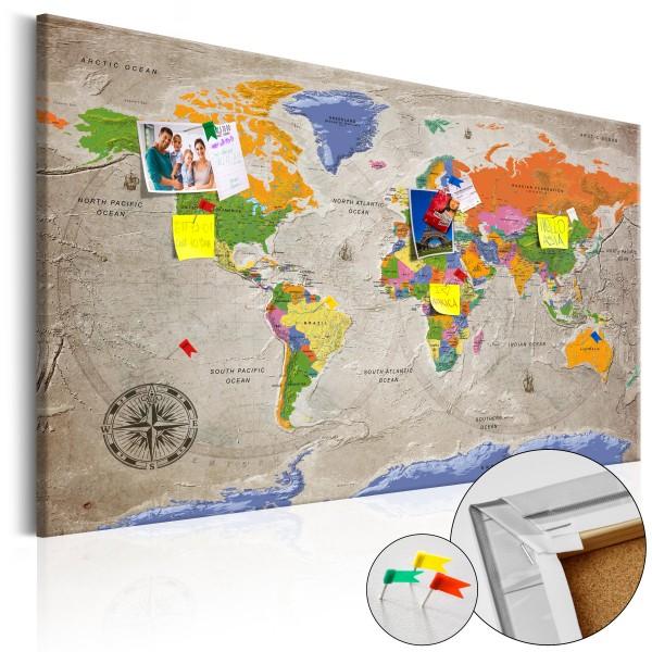 Artgeist Korkbild - World Map: Retro Style [Cork Map]