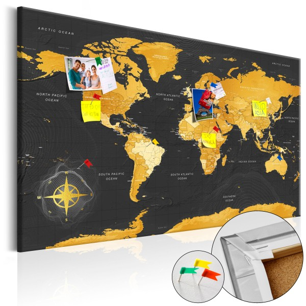 Artgeist Korkbild - Golden World [Cork Map]