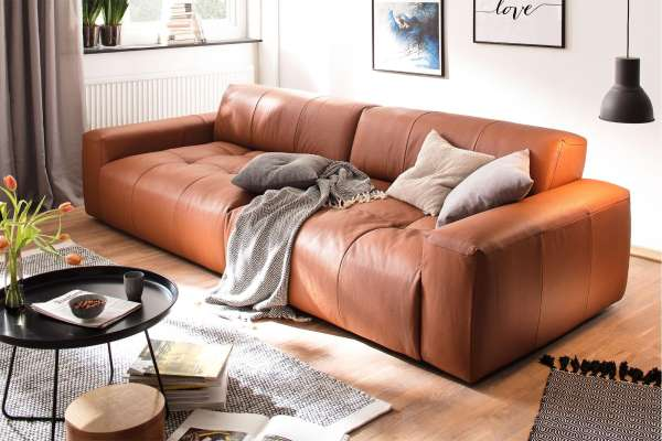 Candy Big Sofa Place in Leder