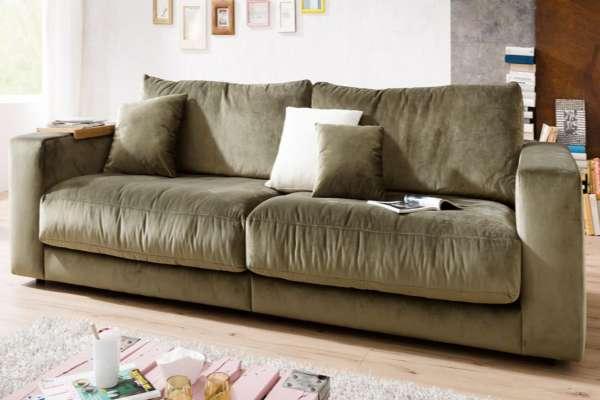 Candy Sofa Giant 230cm in Velvet oliv