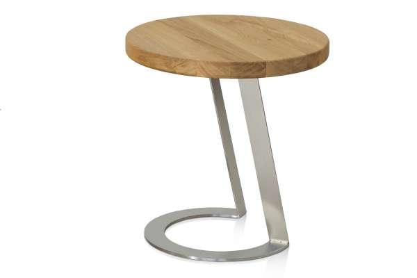 Henke Möbel Beistelltisch EAB50 Eiche-Altholz Edelstahl