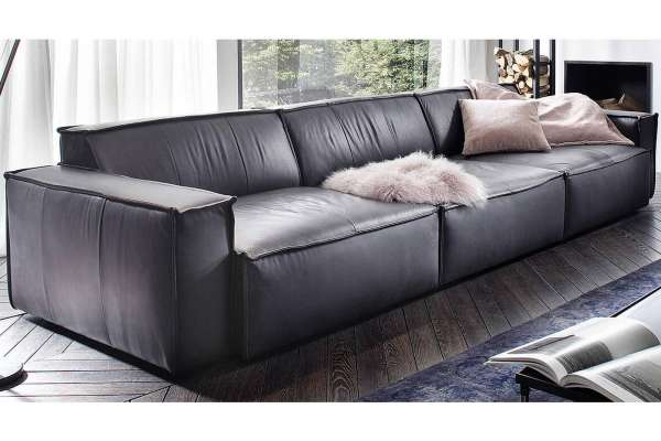 Candy XXL-Sofa Upper East in Leder