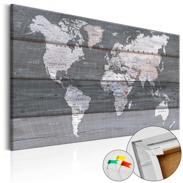 Artgeist Korkbild - Grey Earth [Cork Map]