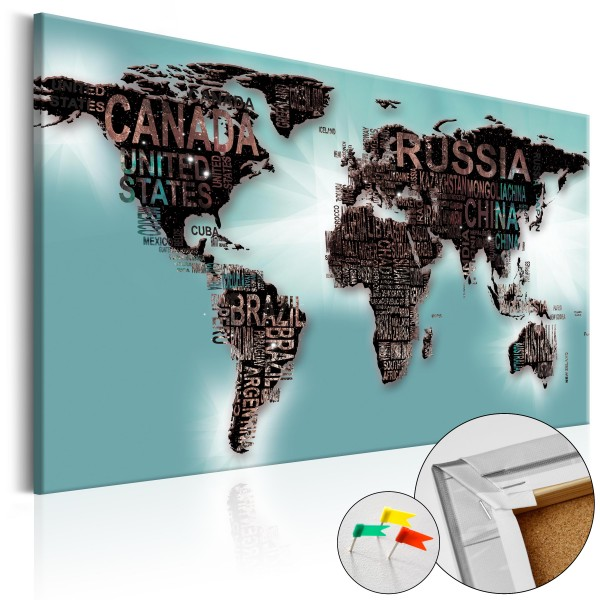 Artgeist Korkbild - Subtlety of the World [Cork Map]