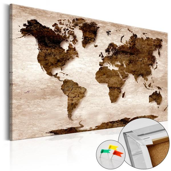Artgeist Korkbild - The Brown Earth [Cork Map]
