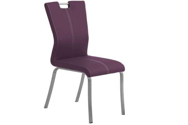 MWA Aktuell Stuhl Milano in Kunstleder purple