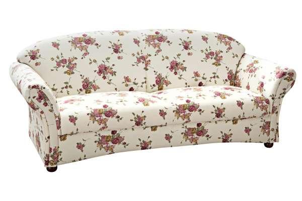 Max Winzer Sofa Corona 2,5 Sitzer mit Blumenmuster beige
