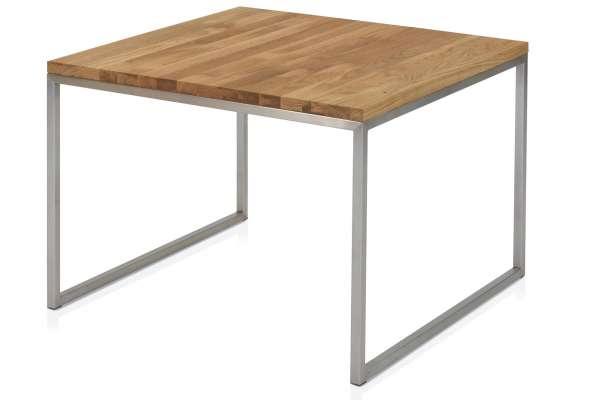 Henke Möbel Beistelltisch 70x70 Asteiche massiv