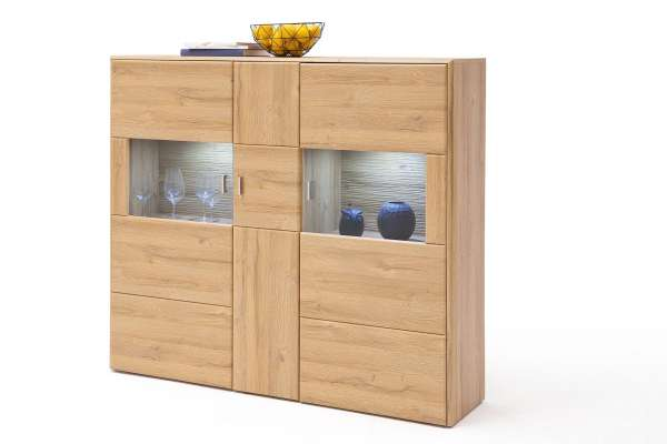 MCA Highboard Florenz 154cm in Eiche Dekor