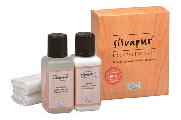 LCK Silvapur® Holzpflege-Set für geölte und gewachste Oberflächen