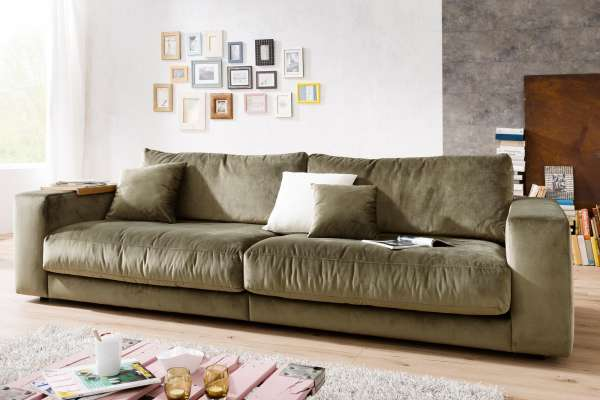 Candy Sofa Giant 250cm in Sitztiefe 84cm