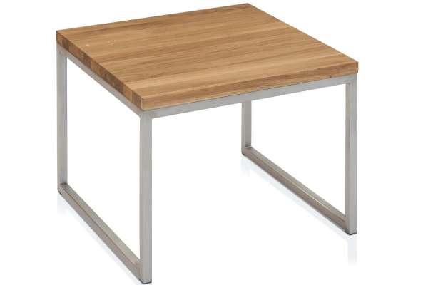 Henke Möbel Beistelltisch 50x50 Asteiche massiv