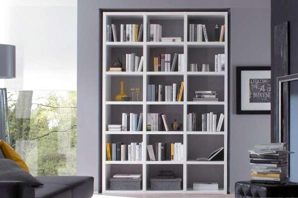 Bücherregal Toro 35 in Weiß lackiert von fif Möbel