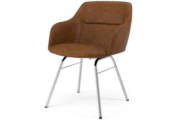 Tenzo 2x Stuhl Brad mit Sofia mit Kunstleder