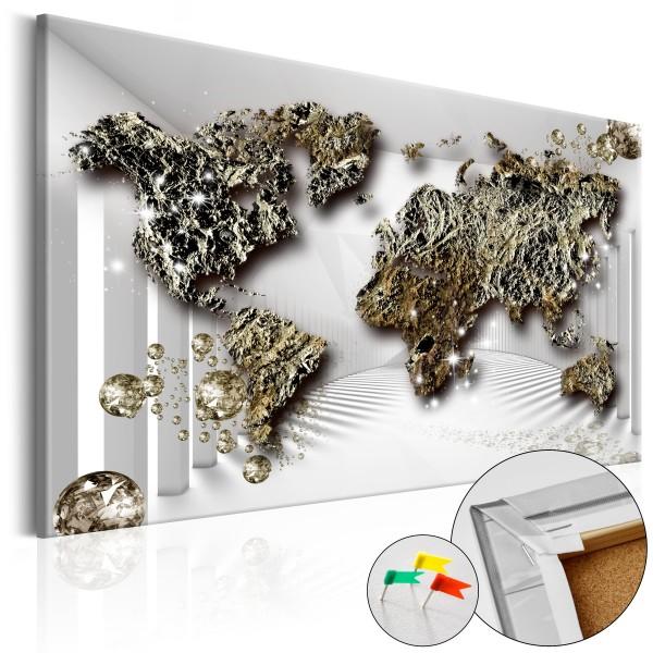 Artgeist Korkbild - Golden Future [Cork Map]