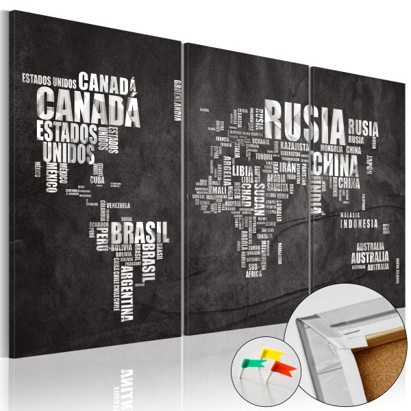 Artgeist Korkbild - El Mundo [Cork Map]
