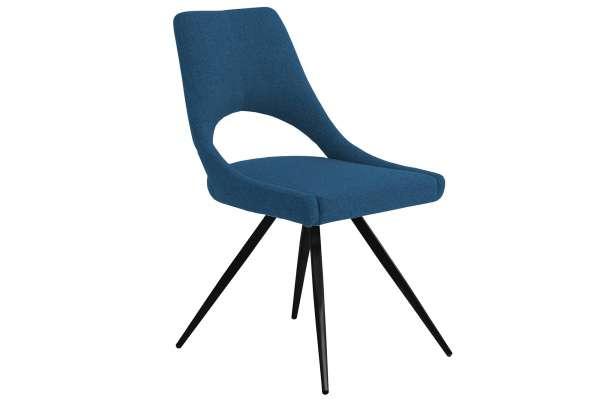 MWA Aktuell Stuhl London Stoff blau
