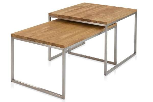 Henke Möbel Cochtisch-Set groß Asteiche massiv