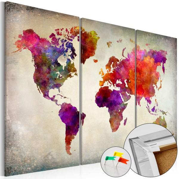 Artgeist Korkbild - Mosaic of Colours [Cork Map]