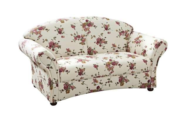 Max Winzer Sofa Corona 2-Sitzer mit Blumenmuster beige