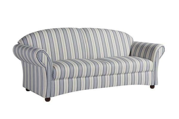 Max Winzer Sofa Corona 2,5 Sitzer in Streifenoptik blau