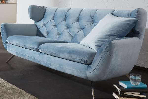 Candy Sofa Sixty mit Chesterfield-Heftung