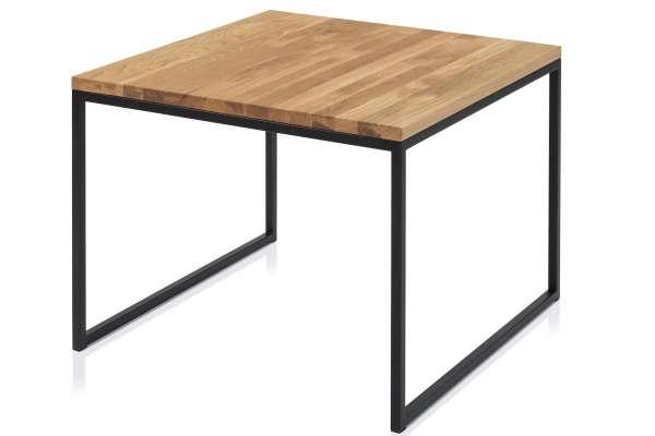 Henke Möbel Beistelltisch 70x70 Asteiche massiv schwarz