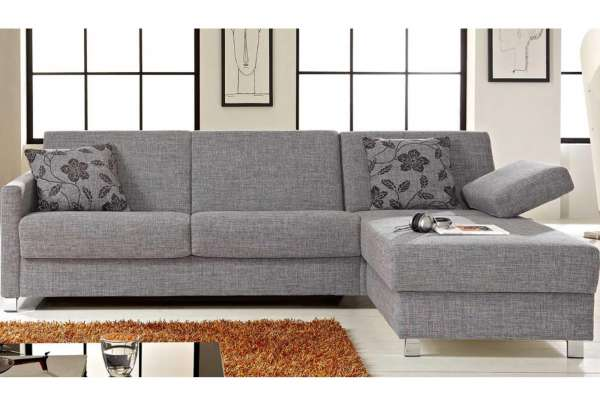 Bali Schlafsofa Messina in Stoffgruppe 8 mit Longchair