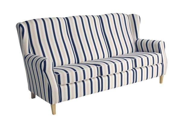 Max Winzer Sofa 3-Sitzer Lorris Streifenoptik
