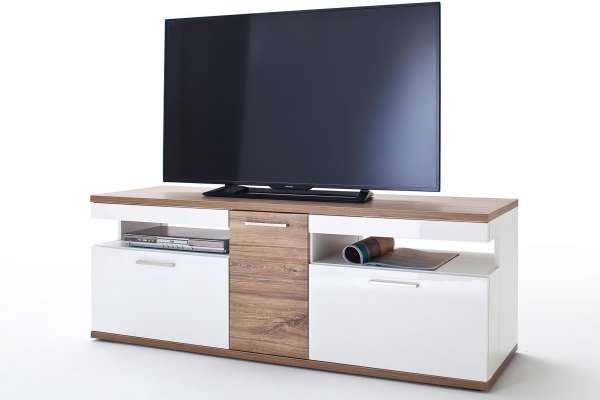 MCA TV-Lowboard Luzern 150cm in Hochglanz weiß