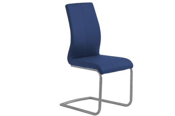 MWA Aktuell Stuhl Milano Kunstleder blau