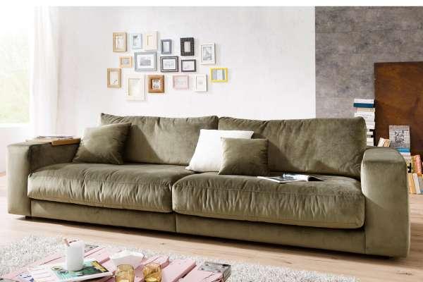 Candy Sofa Giant 290cm in Velvet oliv