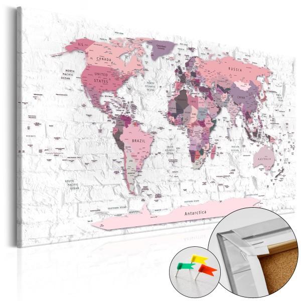Artgeist Korkbild - Pink Frontiers [Cork Map]