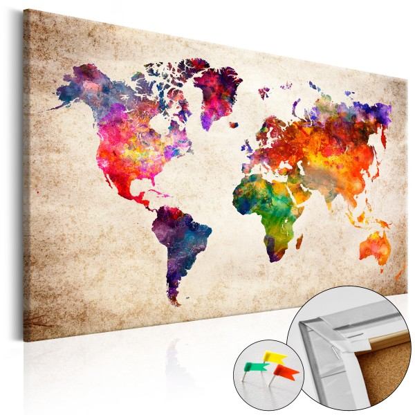 Artgeist Korkbild - Colourful Universe [Cork Map]