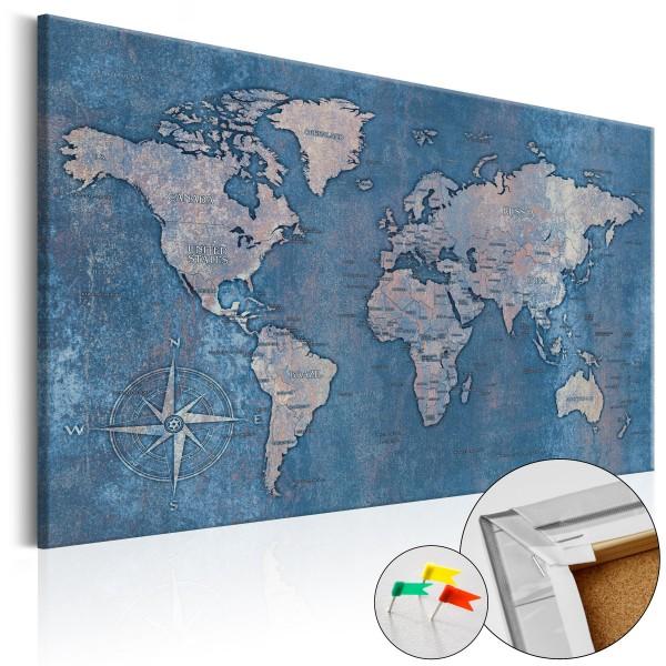 Artgeist Korkbild - Sapphire Planet [Cork Map]