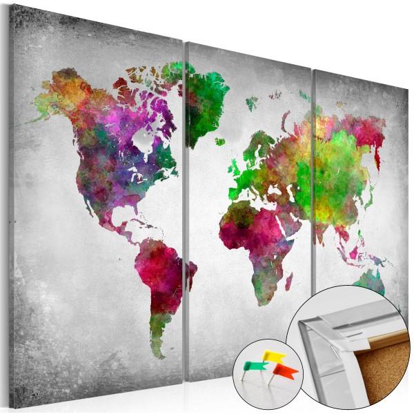 Artgeist Korkbild - Diversity of World [Cork Map]