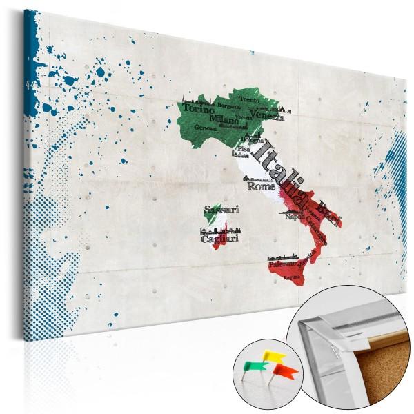 Artgeist Korkbild - Italy [Cork Map]