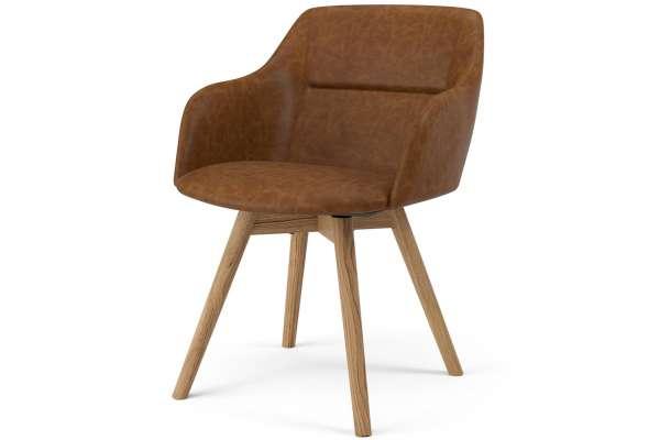 Tenzo 2x Stuhl Sara mit Sofia mit Kunstleder