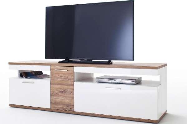 MCA TV-Lowboard Luzern 180cm in Hochglanz weiß