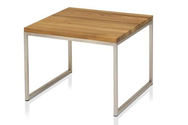 Henke Möbel Beistelltisch 60x60 Eiche Kern-Altholz