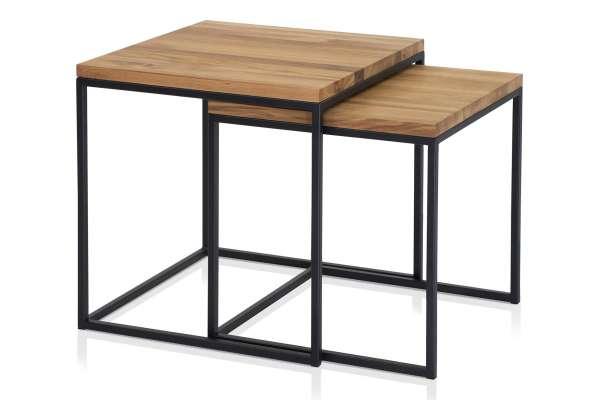 Henke Möbel Zweisatztisch Asteiche massiv