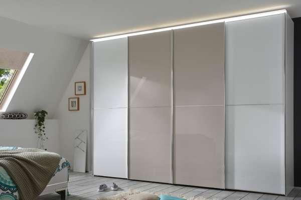 Staud Sinfonie Plus Kleiderschrank weiß / Weißglas mit Sandglas