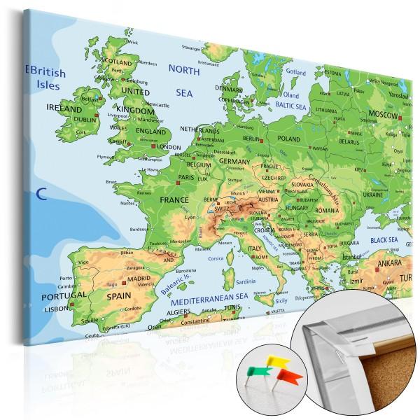 Artgeist Korkbild - Europe [Cork Map]