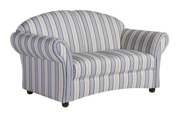 Max Winzer Sofa Corona 2-Sitzer in Streifenoptik blau