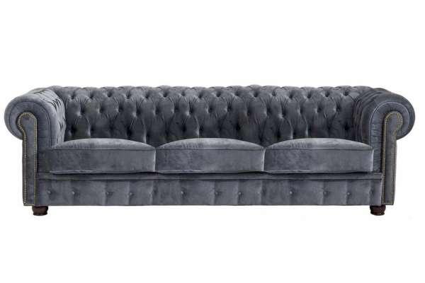 Max Winzer Sofa 3-Sitzer Norwin Samtvelours