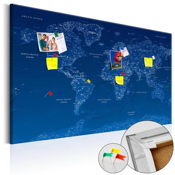 Artgeist Korkbild - World Map: World Connection [Cork Map]