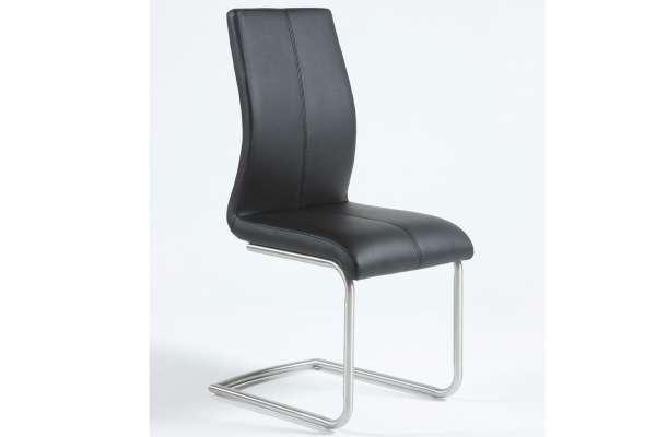 MWA Aktuell Stuhl Milano Leder schwarz
