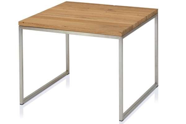 Henke Möbel Beistelltisch 70x70 Eiche Kern-Altholz