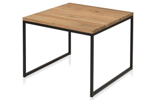 Henke Möbel Beistelltisch 70x70 Eiche Kern-Altholz schwarz