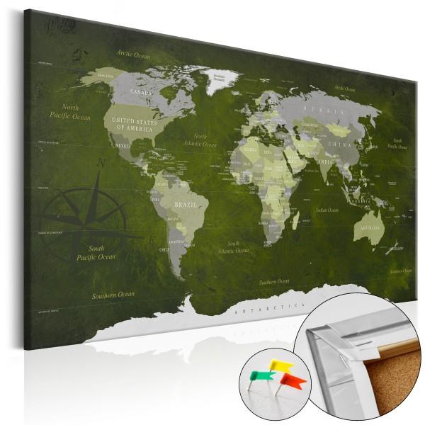 Artgeist Korkbild - Malachite World [Cork Map]